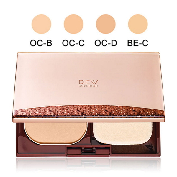 KANEBO 佳麗寶 DEW SUPERIOR 潤活精純光透粉餅 OC-C 9.5g 蕊+盒+粉撲