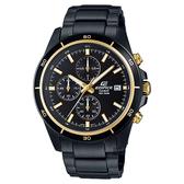 CASIO 卡西歐 EDIFICE 經典賽車計時手錶-黑金 EFR-526BK-1A9VUDF / EFR-526BK-1A9V