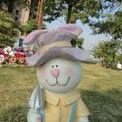 田園飾品樹脂生肖動物擺件兔子吉祥物兔年禮...