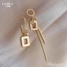 不對稱耳環女韓國氣質網紅耳飾2020年新款潮耳釘925純銀銀針 黛尼時尚精品