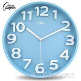 康巴絲14英寸掛鐘客廳立體臥室掛錶靜音時尚時鐘個性創意石英鐘錶  Cocoa