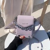 上新小包包女2020夏天新款韓版手提斜背包網紅紫色百搭錬條水桶包