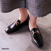 現貨-MIUSTAR 英倫學院扣環低跟樂福鞋(共1色,36-39)【NE4260T1】