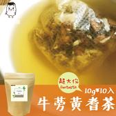 牛蒡黃耆茶(10gx10入/袋) 黃耆茶 牛蒡茶 台灣牛蒡 養生茶 花草茶 青草茶 鼎草茶舖