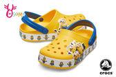 Crocs卡駱馳 洞洞鞋 小小兵聯名款 園丁鞋 防水布希鞋 A1721#黃色◆OSOME奧森鞋業