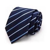 領帶 TODAYBEST商務正裝男士領帶寬8CM潮韓版黑色藍色手打條紋領帶【韓國時尚週】