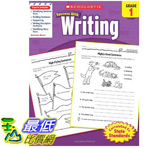[106美國暢銷兒童軟體] Scholastic Success with Writing, Grade 1