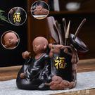 茶道六君子福和豐茶道六君子套裝創意紫砂茶筒功夫茶具配件茶夾茶漏茶勺家用 獨家流行館