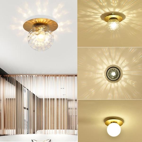 北歐簡約玻璃過道燈輕奢陽臺走廊玄關臥室吸頂燈創意后現代燈飾(定金鏈接,下標前洽談)