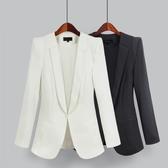 西裝外套    2018韓版小西裝外套修身長袖工作服黑色大碼西服