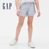 Gap女童 甜美風格荷葉邊鬆緊短褲 540061-海軍藍條紋