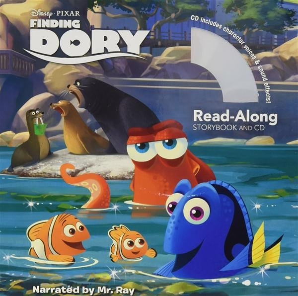 (二手書)Finding Dory: Read-Along Storybook and CD