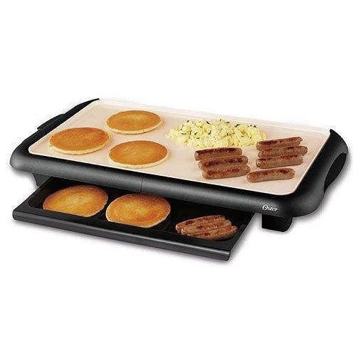 【 歐風家電館】(送專用清潔布) 美國OSTER BBQ 陶瓷 電烤盤 CKSTGRFM18W-TECO