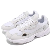 adidas 老爹鞋 Falcon W 白 灰 皮革鞋面 復古 老爺鞋 爸爸鞋 運動鞋 女鞋【ACS】 B28128