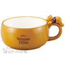 〔小禮堂〕迪士尼 小熊維尼 陶瓷湯杯《黃...