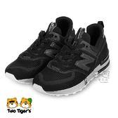 New Balance 574s mini me 黑色 套入式 中童鞋 NO.R3317