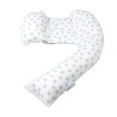 英國 Dreamgenii 多功能孕婦枕/授乳枕/哺乳枕/側睡枕 (綠灰點點)