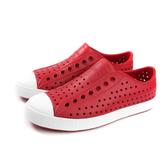 native JEFFERSON 休閒鞋 洞洞鞋 紅色 男女鞋 11100100-6415 no439