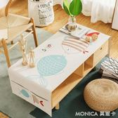 日式卡通棉麻茶幾布雙側收納茶幾蓋巾餐桌布韓式多功能電視櫃蓋布 美斯特精品