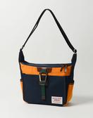 MSPC(master-piece) LINK NO.02350-NAVY-B [經典異材質拼接側背包-黃拼接深藍色]