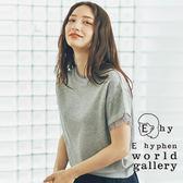 ❖ Hot item ❖ 袖拼接薄紗素面上衣 - E hyphen world gallery