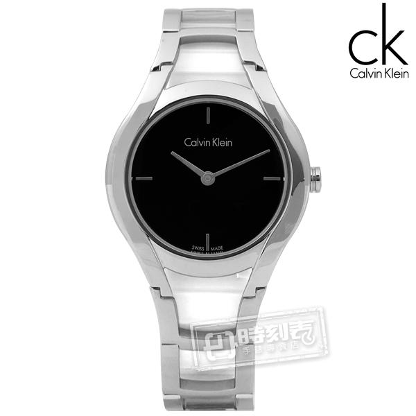 CK / K6R23121 / Stately當代優雅精緻不鏽鋼手錶 黑色 32mm