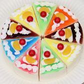仿真蛋糕模型 三角形面包食物道具新款假水果假面包店擺設裝飾    萌萌小寵