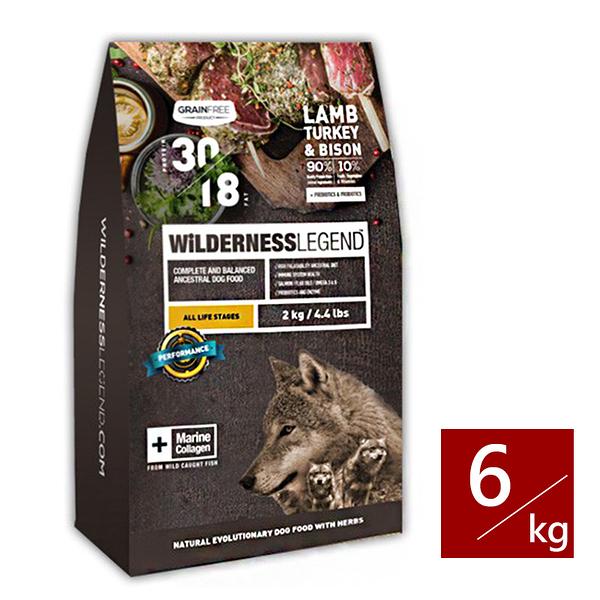 [寵樂子]《WILDERNESS 蔚特尼思》無穀天然狗糧-全齡犬 羊肉火雞野牛配方 6kg / 狗飼料