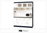 【MK億騰傢俱】BS283-01黑白配5尺石面碗盤餐櫃組