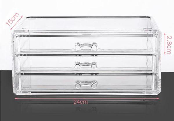 透明壓克力收納盒中號架雙層組合