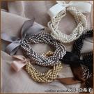 『坂井.亞希子』多層次珍珠編織造型緞帶多...