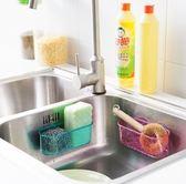 ♚MY COLOR♚透明雙吸盤瀝水收納盒 廚房 衛浴 強吸力 無痕 免安裝 水槽 通風 洗漱 海綿【L23-1】