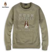 Hush Puppies 上衣 男裝鋼印滿版英文字刷毛上衣