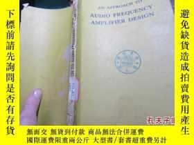 二手書博民逛書店an罕見approach to audio frequency