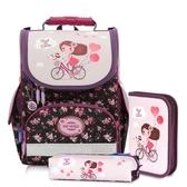 iger Family歐洲插畫家款小貴族超輕量護脊書包-單車少女