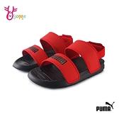 PUMA童鞋 男女童涼鞋 大童 簡約涼鞋 運動涼鞋 輕量涼鞋 耐磨涼鞋 SOFT SANDAL PS K9576#紅色