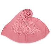 CalvinKlein CK字母絲質寬版披肩圍巾(玫瑰紅)103258-2