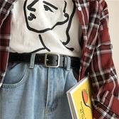 韓國復古CHIC方扣皮帶女裝飾流行BF學生牛仔褲腰帶簡約百搭INS風