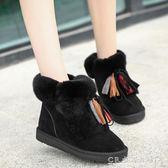 冬天韓版流蘇短筒雪地靴女冬季加絨短靴學生保暖雪地棉鞋 CR水晶鞋坊