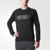 Adidas SV SWT GFX 男 黑 長袖衛衣 長Tee 長袖 T桖 大學T 時尚剪裁 透氣科技 衛衣 BR0174
