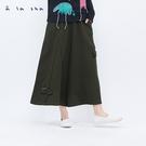 a la sha 動物蝴蝶結多剪接褲裙...
