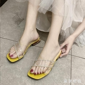 網紅時尚超火拖鞋外穿2020夏季新款仙女風性感中跟鞋配裙子的女鞋XL4207【東京衣社】