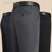 男士長褲爸爸褲子春夏季中老年寬鬆直筒高腰休閒西褲商務大碼男褲薄褲冰絲 快速出貨