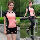 瑜伽服女夏天薄款速干衣性感時尚專業高端網紅跑步健身房運動套裝 霓裳細軟