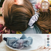 髮飾 韓國直送緞帶蝴蝶結水鑽珍珠香蕉夾-Ruby s 露比午茶