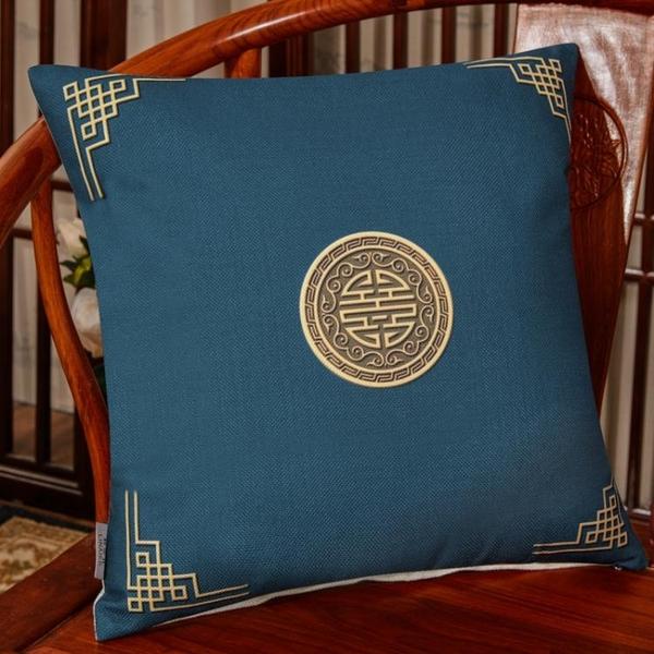 中式紅木沙發抱枕古典靠背床頭靠包客廳大號靠腰枕含芯中國風靠墊 樂活生活館