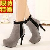 短靴 高跟女靴子-優質隨性熱銷焦點休閒2色66c30[巴黎精品]