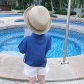 男童衣服襯衫夏裝襯衣短袖寶寶洋氣打底衫兒童春秋薄上衣夏季外套