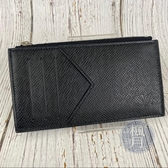 BRAND楓月 LOUIS VUITTON LV M62914 黑 TAIGA 皮革 零錢 卡片包 卡包 卡夾
