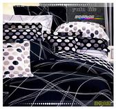 床罩全套(6*7尺) 高級五件式100%純棉雙人特大/ivy精品『獨特魅力』黑色
